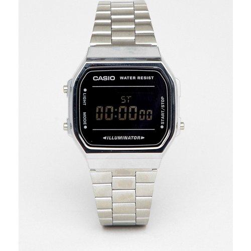 A168W - Montre-bracelet digitale unisexe - é/noir miroir - Casio - Modalova