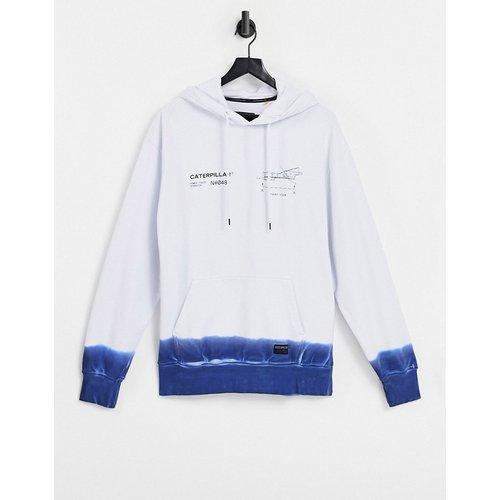 Caterpillar - Hoodie à logo et engin imprimés effet dip-dye - /bleu - Cat Footwear - Modalova