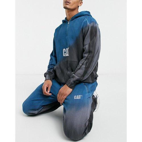 Caterpillar - Pantalon de jogging délavé effet dip dye à logo réfléchissant - prusse et gris - Cat Footwear - Modalova