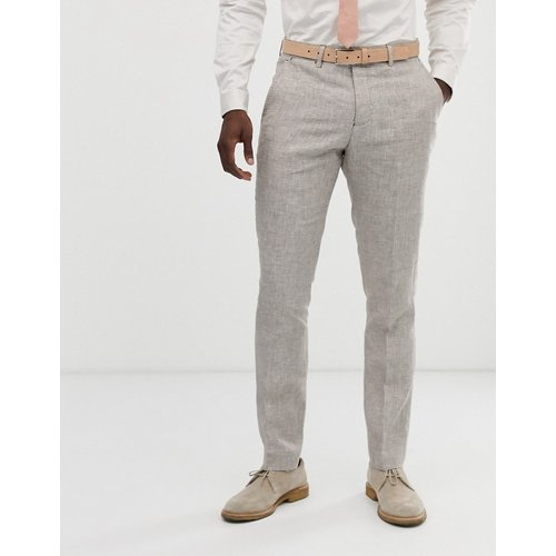 Pantalon de costume slim en lin - Celio - Modalova