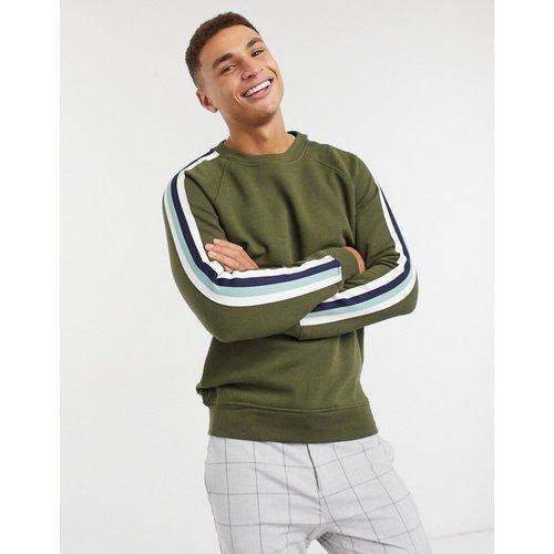 Sweat-shirt à bandes contrastantes - Kaki - Celio - Modalova