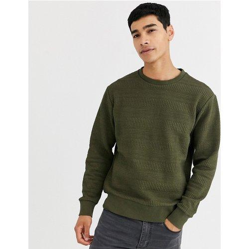 Sweat-shirt ras de cou - Kaki texturé - Celio - Modalova