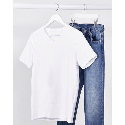 Celio - T-shirt col V - Blanc - Celio - Modalova
