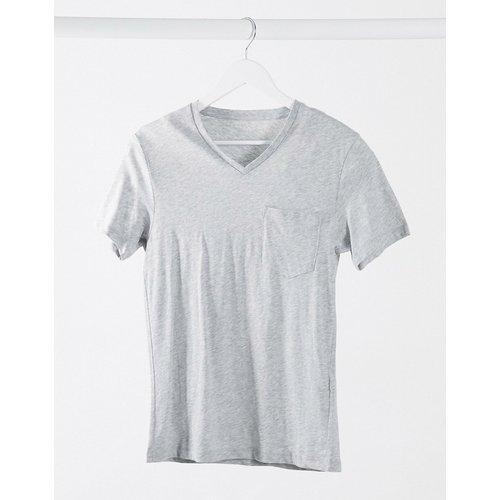 Celio - T-shirt col V - Gris chiné - Celio - Modalova