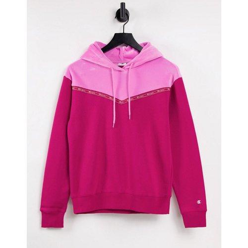 Hoodie effet color block en velours - et rose - Champion - Modalova