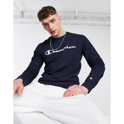 Sweat-shirt à logo oversize écrit sur le devant - Bleu - Champion - Modalova
