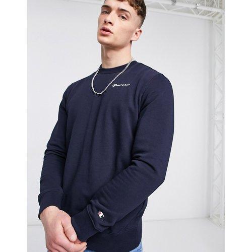 Sweat-shirt à petit logo manuscrit - Bleu - Champion - Modalova