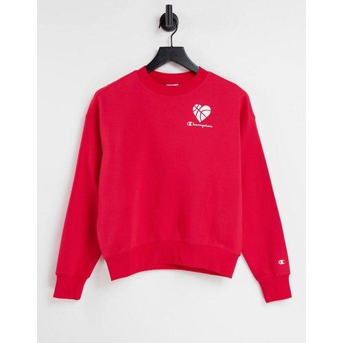 Sweat-shirt avec cœur imprimé - Champion - Modalova