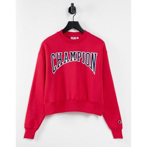 Sweat-shirt coupe carrée à grand logo universitaire - Champion - Modalova