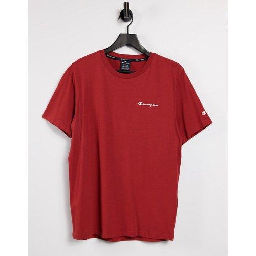 T-shirt à logo à petit logo imprimé sur la poitrine - Bordeaux - Champion - Modalova