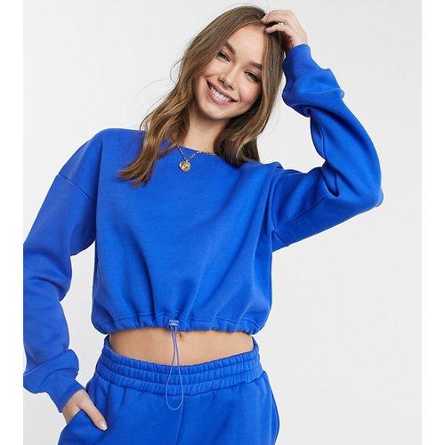 Exclusivité - Sweat-shirt confort court et épais avec cordon de serrage, en coton biologique - vif - Chelsea Peers - Modalova