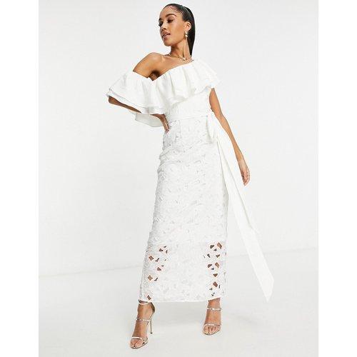 Robe asymétrique à volants longueur mollet - chi chi london - Modalova