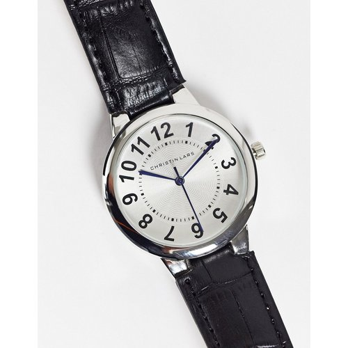 Montre-bracelet à cadran blanc - Noir - Christin Lars - Modalova