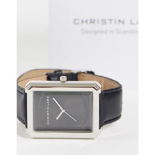 Montre-bracelet à cadran rectangulaire - Noir - Christin Lars - Modalova
