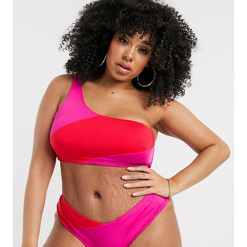 Bas de bikini cheeky - Rose et rouge - City Chic - Modalova