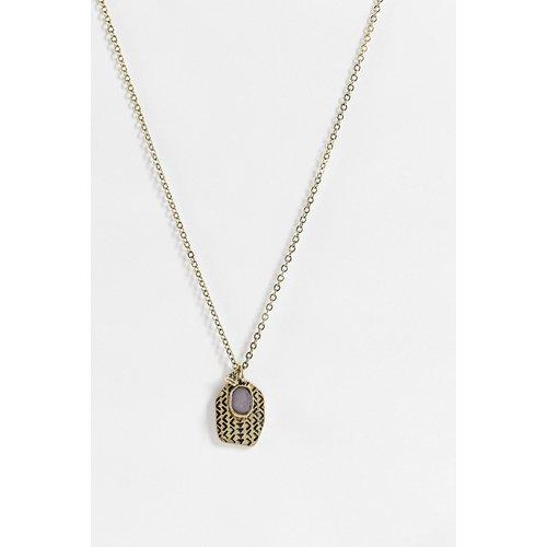 Collier chaîne avec pendentif triangle pierre noir - Classics 77 - Modalova