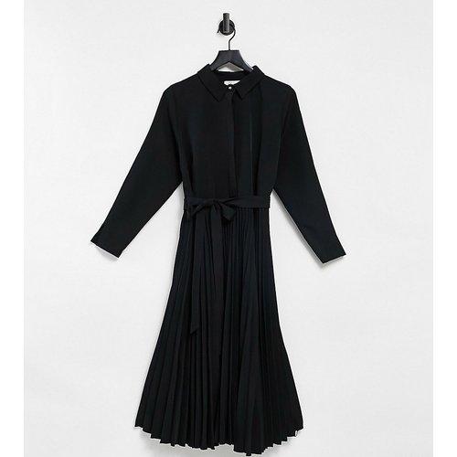 Robe mi-longue à chemise nouée façon cache-cœur - Closet London Plus - Modalova