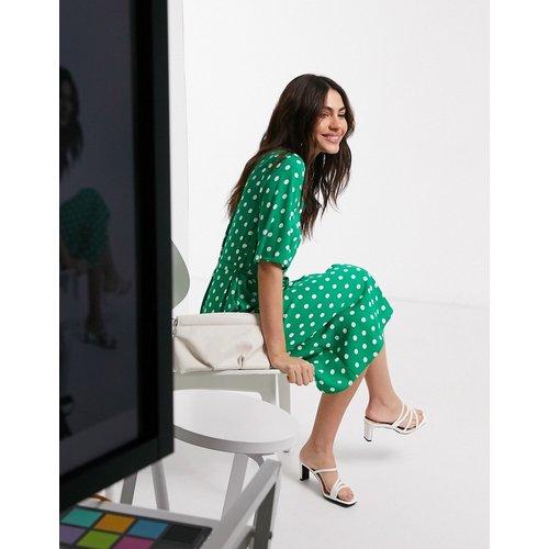 Robe chemise mi-longue à pois - closet london - Modalova
