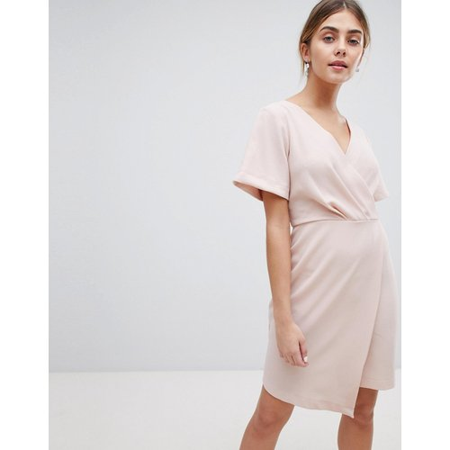 Robe droite courte coupe cache-cœur - closet london - Modalova