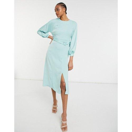 Robe mi-longue à ceinture - Menthe - closet london - Modalova