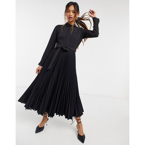 Robe mi-longue à chemise nouée façon cache-cœur - closet london - Modalova