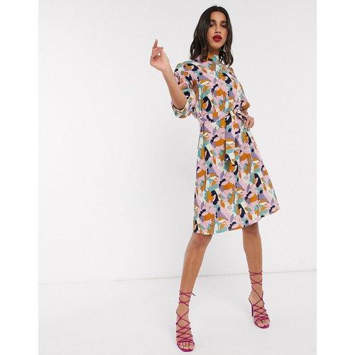 Closet - Robe courte à imprimé multicolore - closet london - Modalova