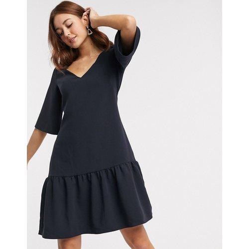Closet - Robe courte à ourlet plongeant - Bleu marine - closet london - Modalova