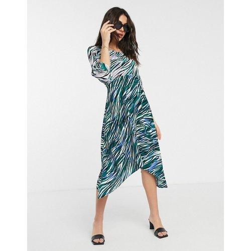 Closet - Robe mi-longue portefeuille à manches longues bouffantes et imprimé varié - closet london - Modalova