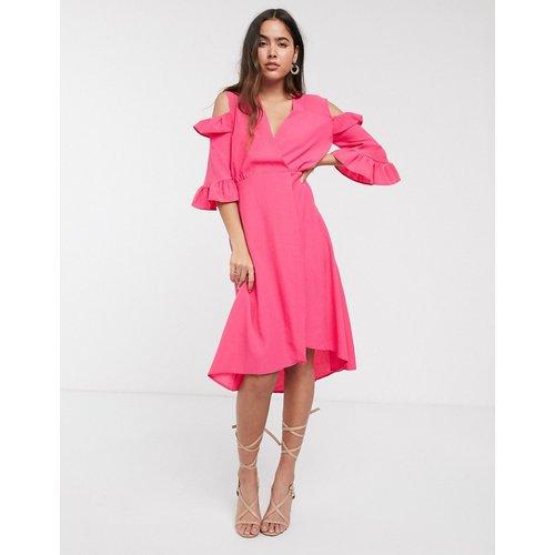 Closet - Robe portefeuille trapèze avec manches à volants - closet london - Modalova