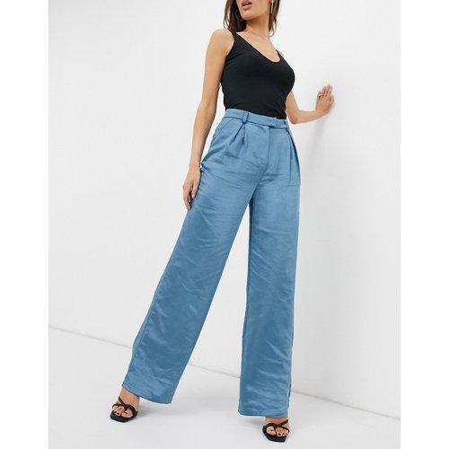 Pantalon large en satin - ardoise - Club L London - Modalova