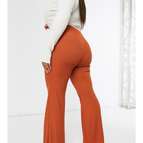 Pantalon d'ensemble large - Rouille - Club L London Plus - Modalova