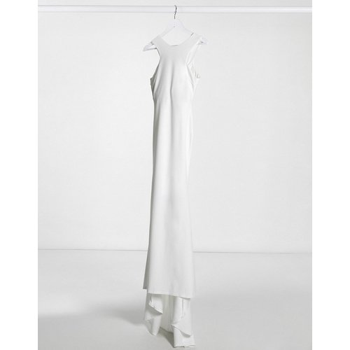 Robe longue à découpes avec ourlet plongeant - Ivoire - Club L London - Modalova