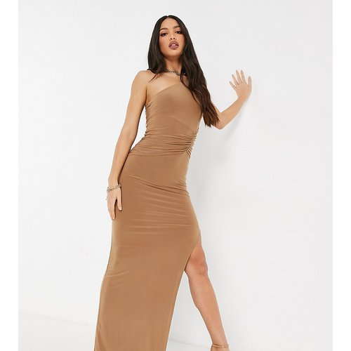 Robe longue asymétrique - Camel - Club L London Tall - Modalova
