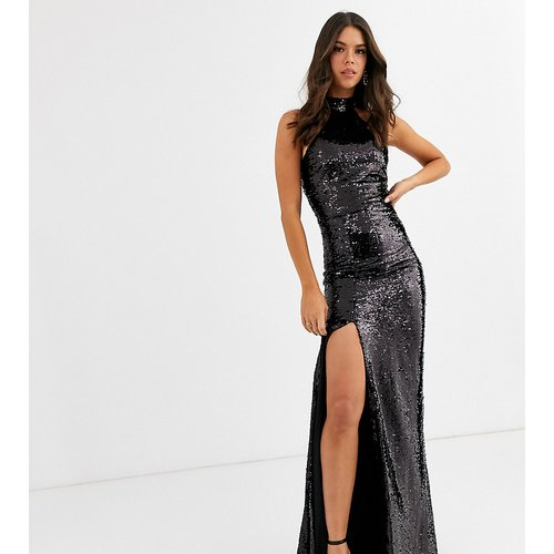 Trophy - Robe longue à sequins avec encolure haute - Club L London Tall - Modalova