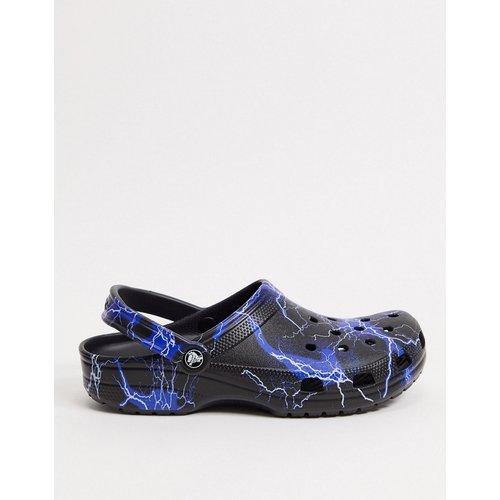 Originals - Sabots à imprimé éclairs - Bleu marine - Crocs - Modalova