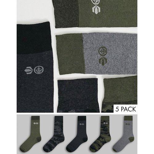 Mossdale - Lot de 5paires de chaussettes - Crosshatch - Modalova