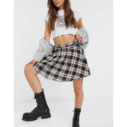 Mini-jupe d'ensemble plissée à carreaux vintage - daisy street - Modalova