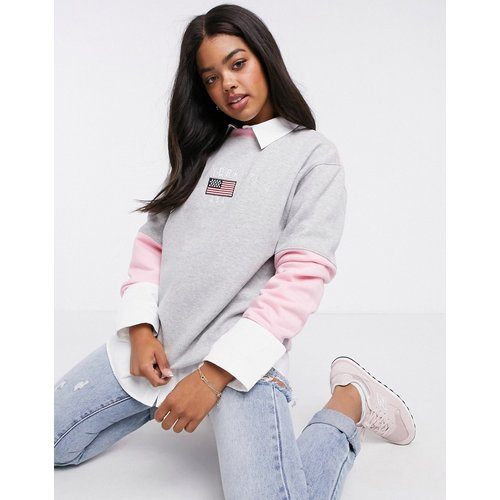 New York - Sweat-shirt oversize color block avec broderie - daisy street - Modalova