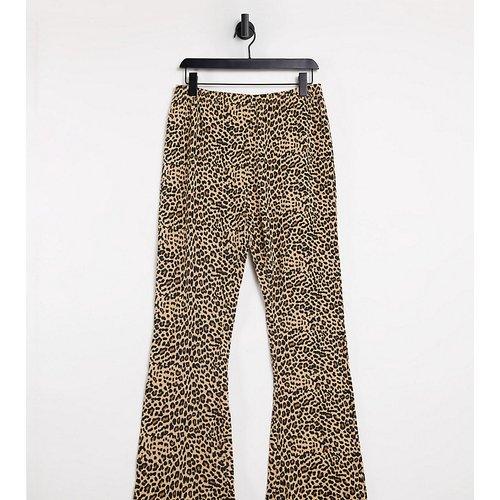 Pantalon évasé en jersey à imprimé animal - daisy street - Modalova