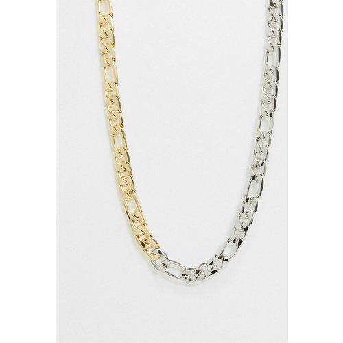 DesignB - Collier chaîne figaro - Or et argent - DesignB London - Modalova