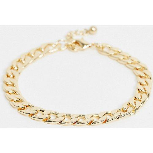 DesignB London - Bracelet de cheville à maille chunky - DesignB London Curve - Modalova