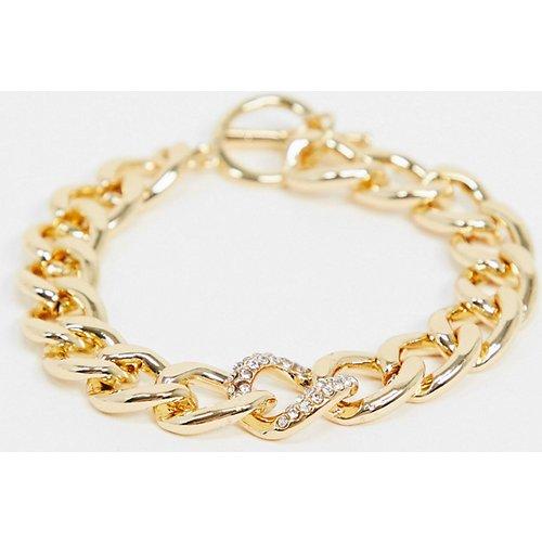 Bracelet à chaîne chunky à strass - DesignB London Curve - Modalova