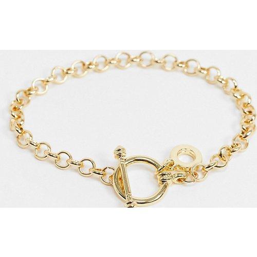 Bracelet à chaîne épaisse et fermoir en T - DesignB London Curve - Modalova