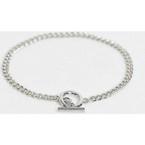 Bracelet de cheville à barre en T - DesignB London Curve - Modalova