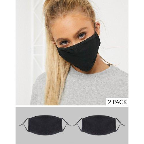 Exclusivité - Lot de 2 masques en tissu avec lanières réglables - DesignB London - Modalova