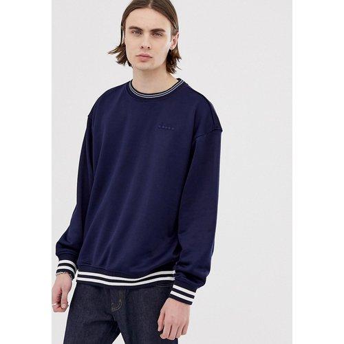 Barra - Sweat-shirt oversize avec grand logo rétro - Bleu marine - Diadora - Modalova