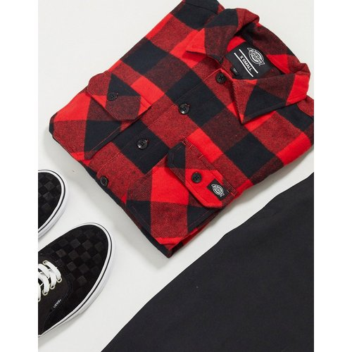 Chemise coupe décontractée à manches longues et à carreaux - Dickies - Modalova