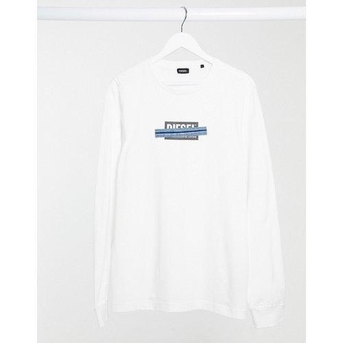 T-Just-LS-X41 - T-shirt manches longues avec patch logo en jean - Diesel - Modalova