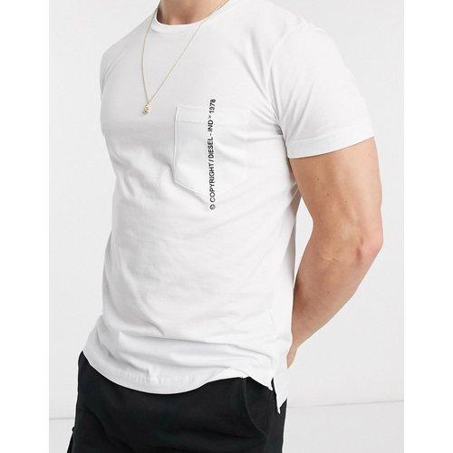 T-Rubin-Pocket-J1 - T-shirt à poche avec logo - Diesel - Modalova