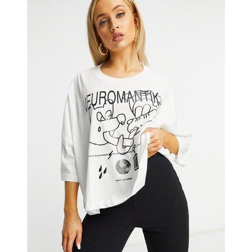 T-shirt manches chauve-souris avec imprimé graphique - Diesel - Modalova
